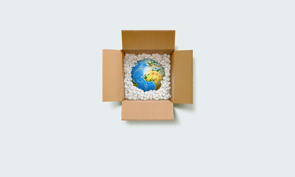 carefully packed globe